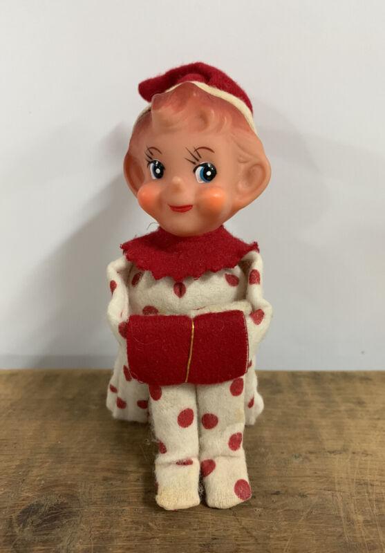 VINTAGE RED POLKA DOT KNEE HUGGER JAPAN PIXIE ELF Rare Christmas