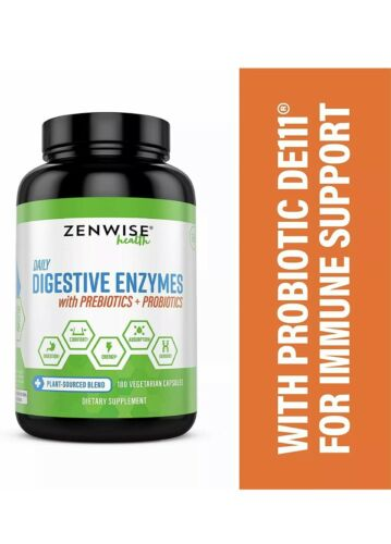 Zenwise Health  Daily Digestive Enzymes with Prebiotics   Pr