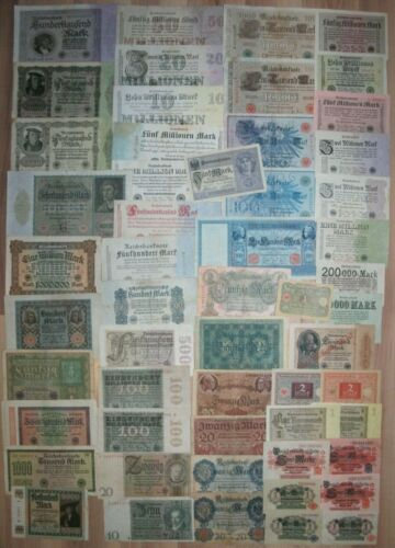 LOT OF 55 Germany banknotes