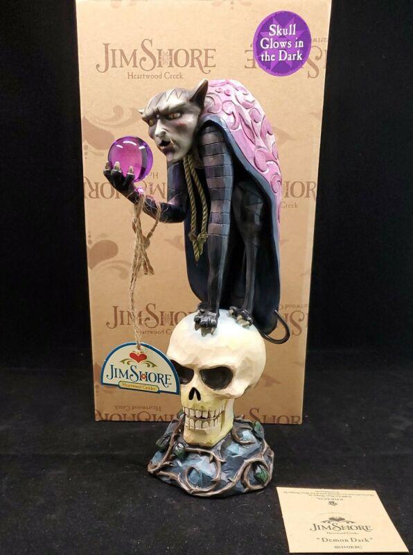 "JIM SHORE Heartwood Creek ""DARK DEMOM"" Demon on Skull Figurine ENESCO 4014442KBC"