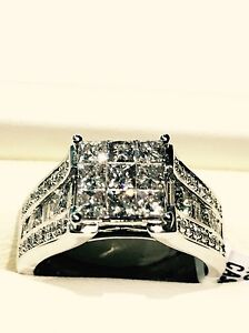 14kt White Gold 1.85ct Diamond Ring Newcastle Newcastle Area Preview