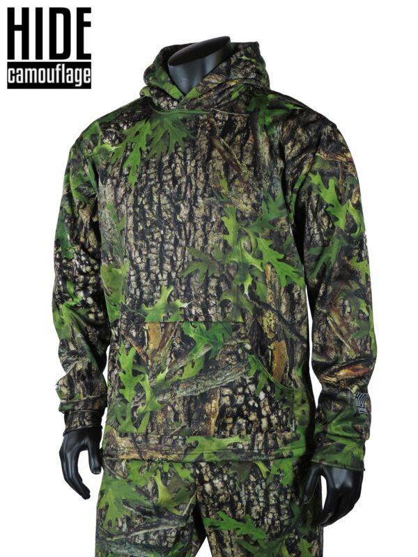 Hide Camouflage - Early Season Oak Camo - Deer Turkey Hunting Hoodie