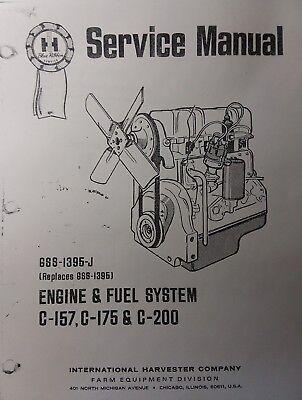 International Harvester Tractor Crawler Ih C-157 C-175 200 Engine Service Manual