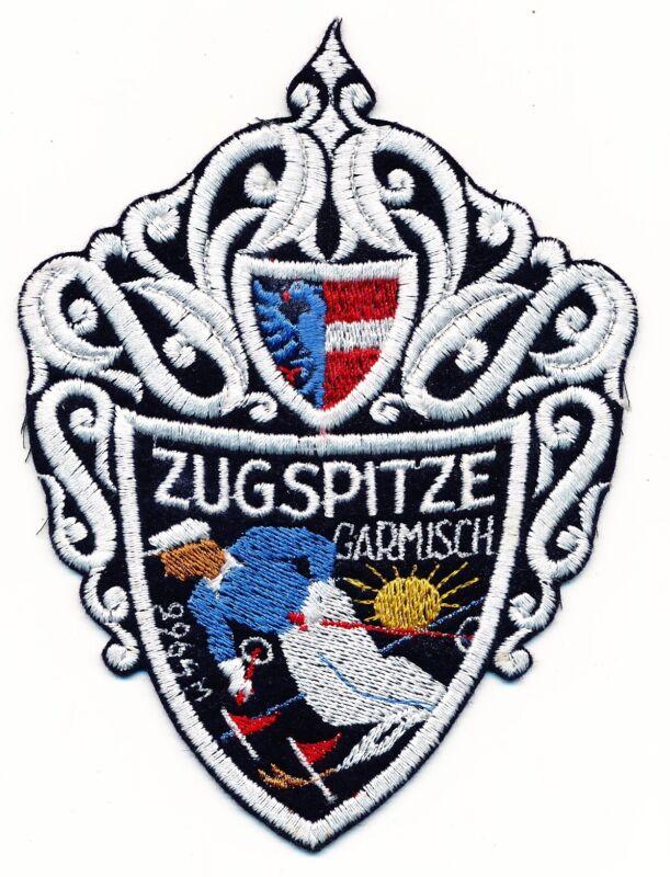 UNUSED ZUGSPITZE VINTAGE SKI PATCH GARMISCH GERMANY SOUVENIR TRAVEL RESORT NEW