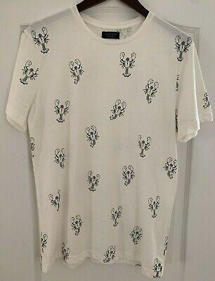 Zara Lobster print off-white t-shirt size medium men's