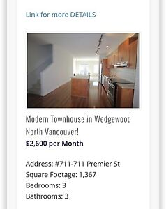 Modern townhouse in Wedgewood North Vancouver!