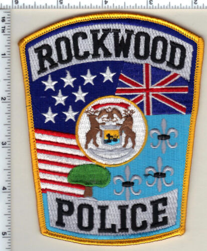 Rockwood Police (Michigan)  Shoulder Patch  - new from 1993