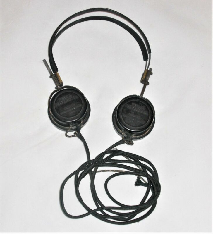 Vintage Trimm Professional Dual High Impedance Headphones - 3950 DC Ohms