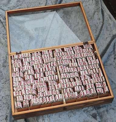 330 Wäschezeichen Holzkasten Wäschestempel Monogramm Monogramme vintage shabby