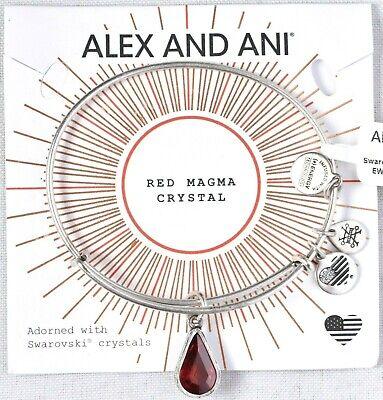 January Birthstone Bracelet - Alex and Ani A17EB40RS Teardrop January Birthstone Garnet Bracelet >NEW< (Y2)
