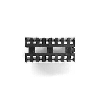 Pkg Of 10 16 Pin Dip Ic Socket 0.1 Pitch 0.3 Wide Rn 2011160
