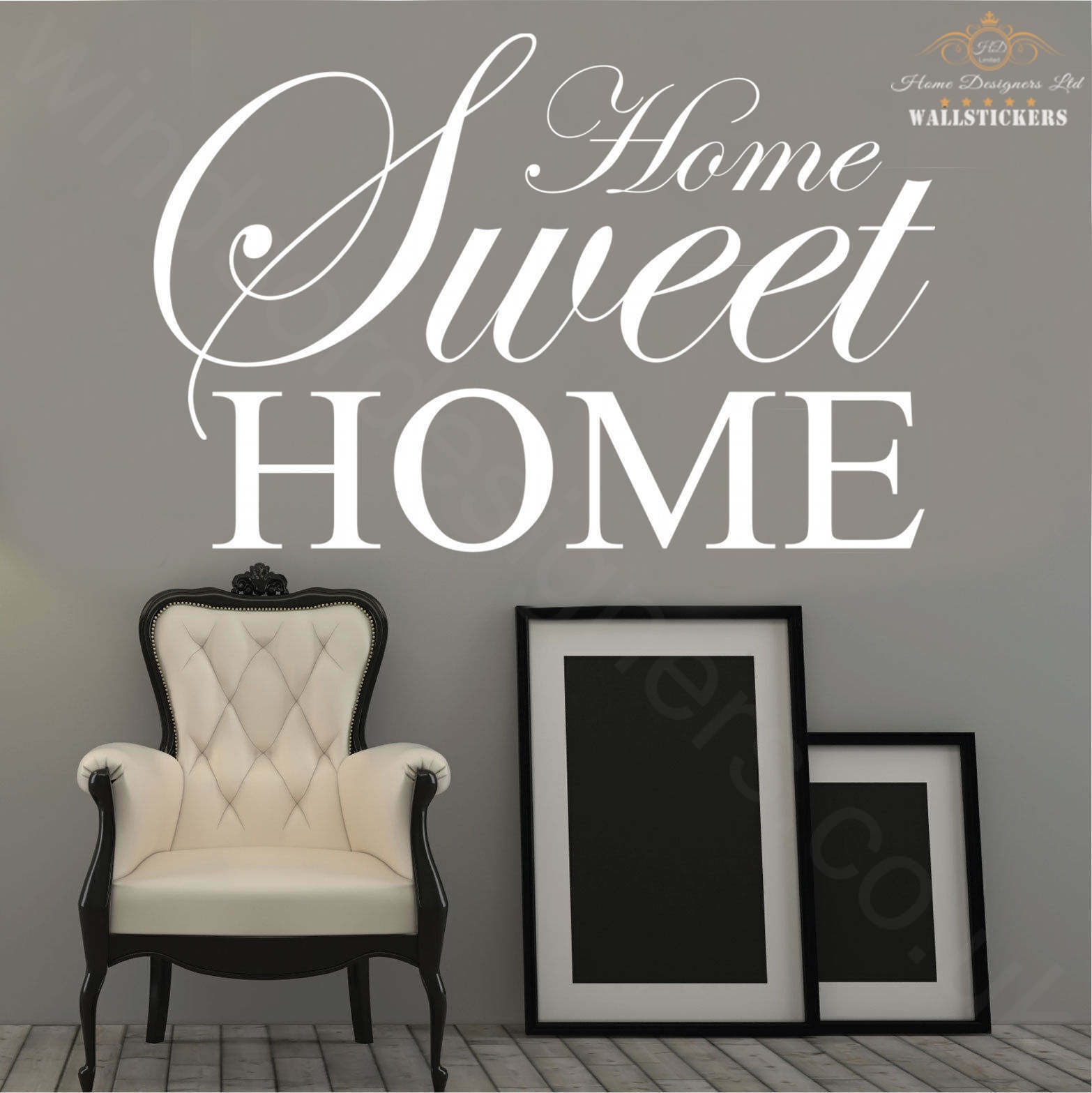 Home sweet home wall art sticker quote large decor ebay Home sweet home wall decor