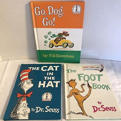 The Cat In The Hat, Go Dog. Go!, The Foot Book Dr. Seuss,P D Eastman Book Bundle