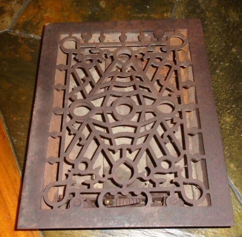 Antique Heat Register GRATE Vent Cast Iron ORNATE Beautiful!!!