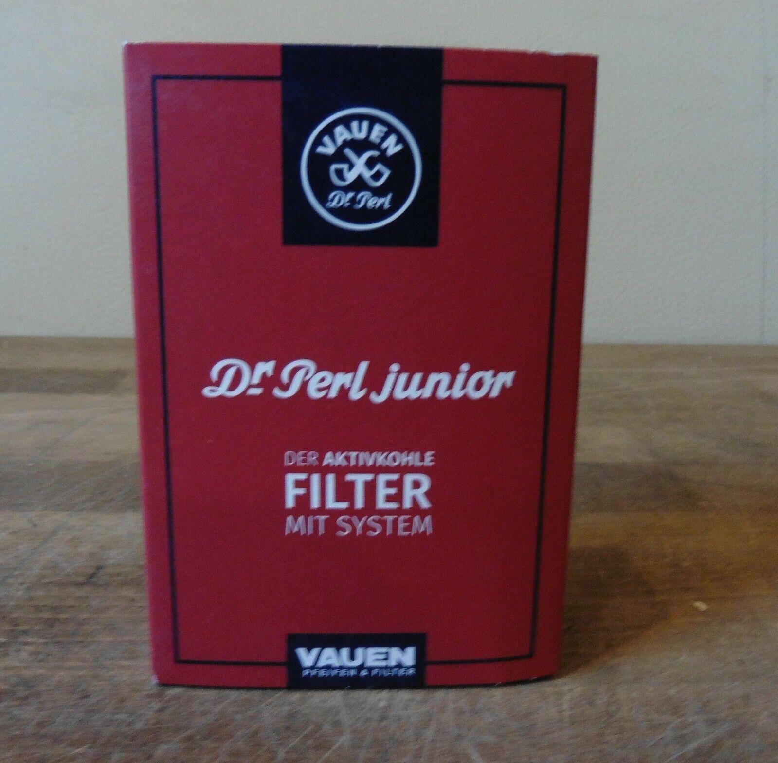 Vauen Dr. Perl Filter Junior Aktivkohlefilter  1 x 100 Stück Filter / 9 mm NEU