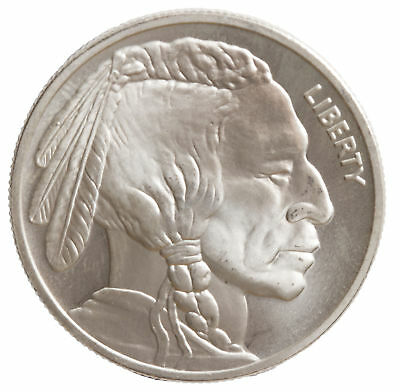 Lot of 100 - 1oz 4x9 Silver Buffalo Round