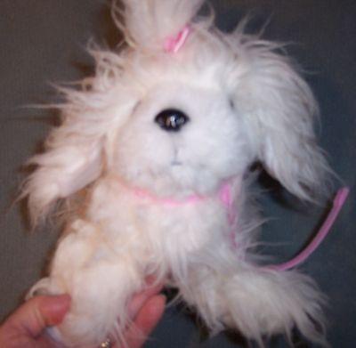 Battat 9 White Maltese Yorkshire Yorkie Terrier Puppy Dog Fluffy Plush Pink Bow - $14.99