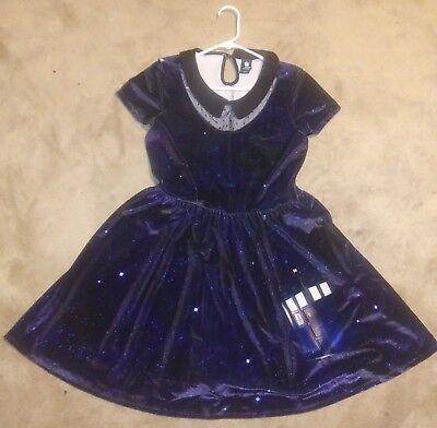BBC Doctor Who Velvet Tardis Dress Size Medium