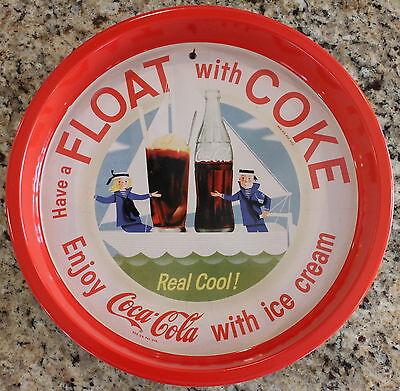 Collectors Coke Metal Tray Coca Cola Lic. Serving Home Vintage Look Float Ad