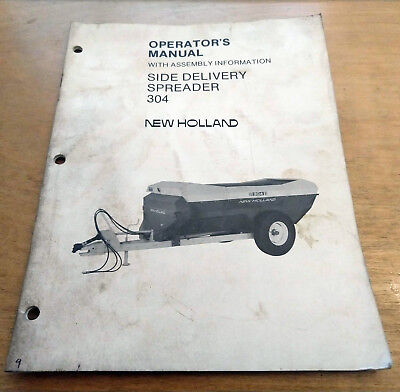 New Holland 304 Manure Spreader Operators Manual Nh