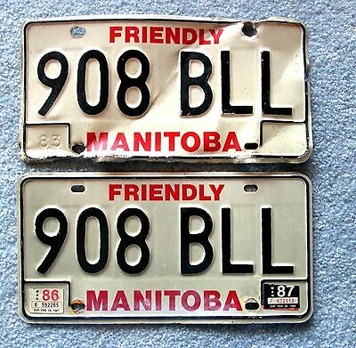 1983 Manitoba  License Plate 908 BLL BUY ONE OR TWO lsu3