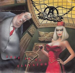 AEROSMITH-Love-In-An-Elevator-PICTURE-SLEEVE-7-45-juke-box-title-strip-NEW