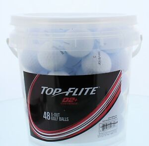 Top Flite D2+ Golf Balls 48 White