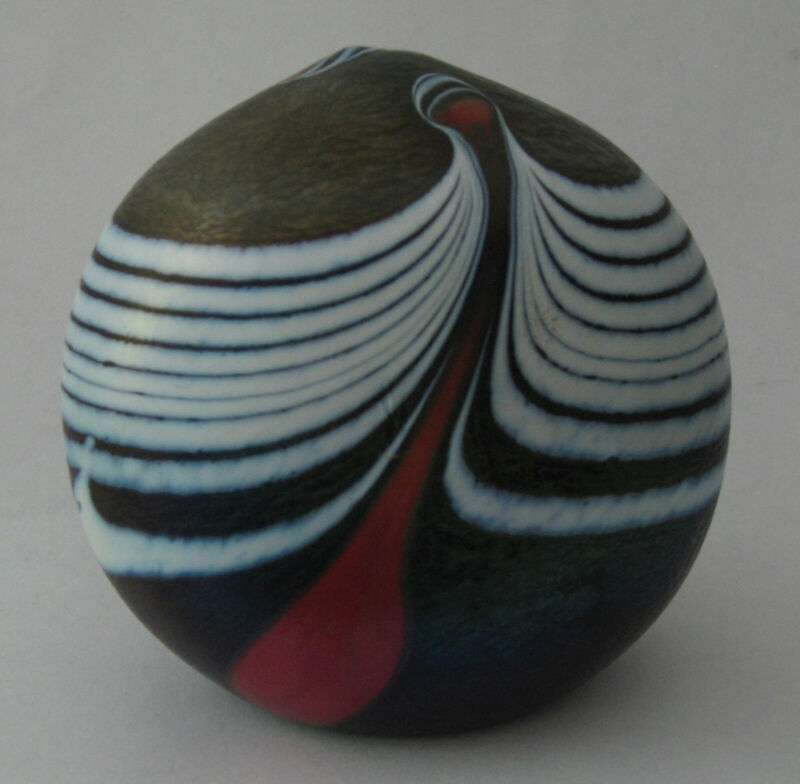 Iridescent Kosta Boda by Bertil Vallien-Unique Paperweight-Signed & Numbered