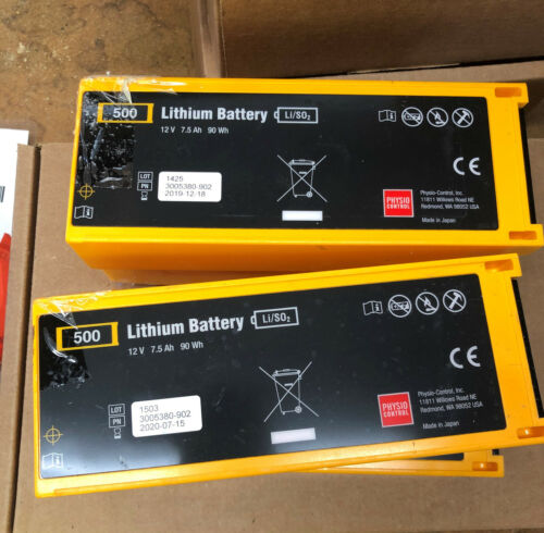 Physio Control Lifepak 500 Medical Battery, PN 3005380-902, USED Priced Each