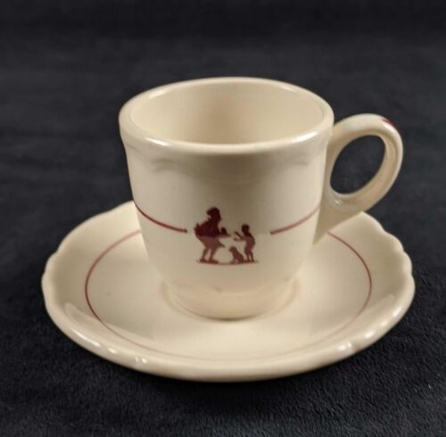 Vintage Howard Johnson Espresso Cup and Saucer