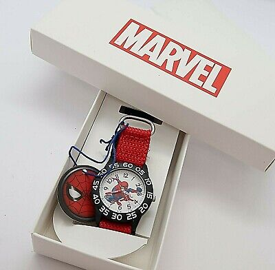"MARVEL, Spiderman, Great Gift ""TIME TEACHER"" KIDS Cool WATCH, New In Box R14-8"
