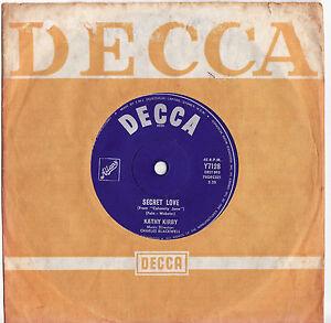 KATHY-KIRBY-SECRET-LOVE-Very-rare-1963-Aussie-7-Single-Release-EX
