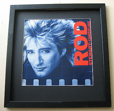 ROD STEWART Camouflage FRAMED ALBUM COVER