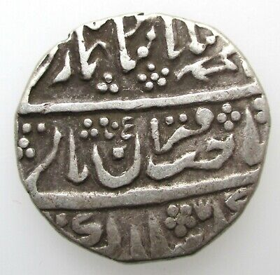 British India Princely States Jaisalmer Silver Rupee frozen yr 22