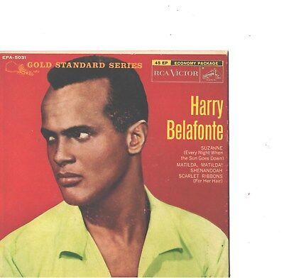 HARRY BELAFONTE--HARD COVER-4-SONG-EP+45-GOLD STANDARD SERIES--PS--PIC--SLV (Pic 4 Song)