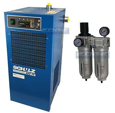 Schulz 75 Cfm Refrigerated Compressed Air Compressor Dryer 115v Complete Kit