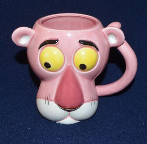 Vintage PINK PANTHER ceramic mug 1981 Collection Royal Orleans Japan Excellent!