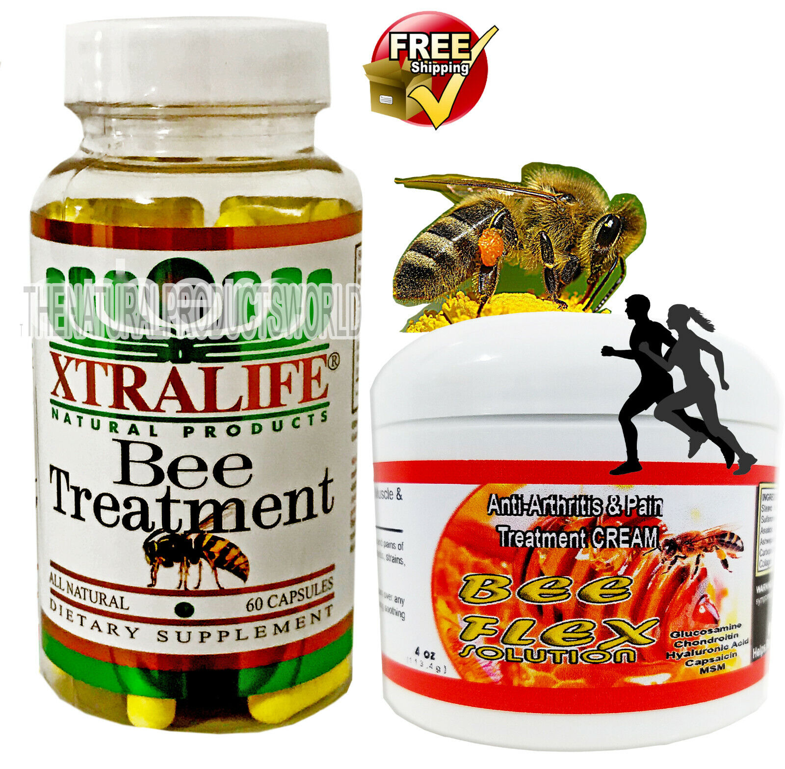 NATURAL BEE TREATMENT anti inflammatory Arthritis Pain Relief Abee Therapy