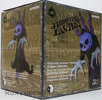Halloween Gemmy 9.5 ft Projection Pumpkin Creeper Reaper Airblown Inflatable (Purple Pumpkin Project)