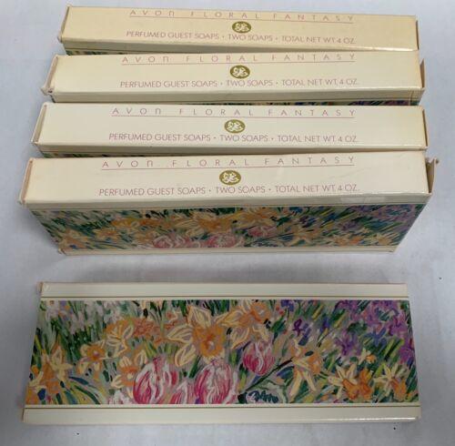 Lot Vintage NOS Avon Floral Fantasy Perfumes Guest Soaps Soap (A3)