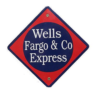 Wells Fargo Express Railroad Porcelain Sign  57 1550