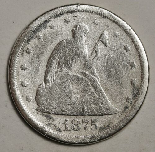 1875-s 20 Cent Piece.  Circulated.  148670