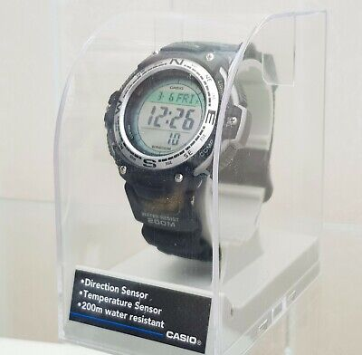 Casio Mens Twin Sensor Compass Thermometer World Time Watch RRP £120 (c11