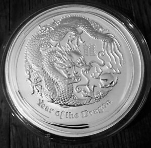 1kg 2012 Lunar Year of the Dragon Silver Coin .999 Pure