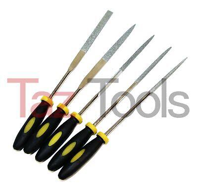Round 6-1//4 Length #2 Coarseness Single Cut Nicholson Needle File with Handle Swiss Pattern