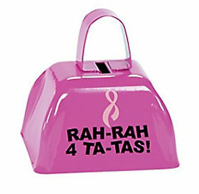 12 Pink Ribbon Breast Cancer Awareness COWBELLS fundraiser Party supplies