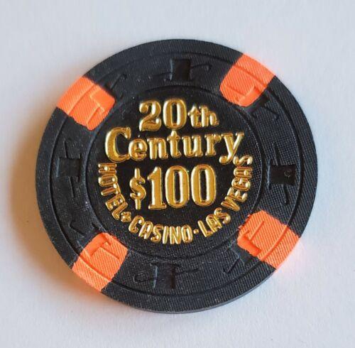 $100 Las Vegas 20th Century Hotel & Casino Chip - Uncirculated