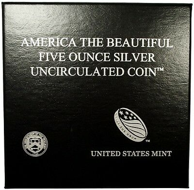 2010 Grand Canyon 5oz Silver Uncirculated Coin America the Beautiful w/Box & COA