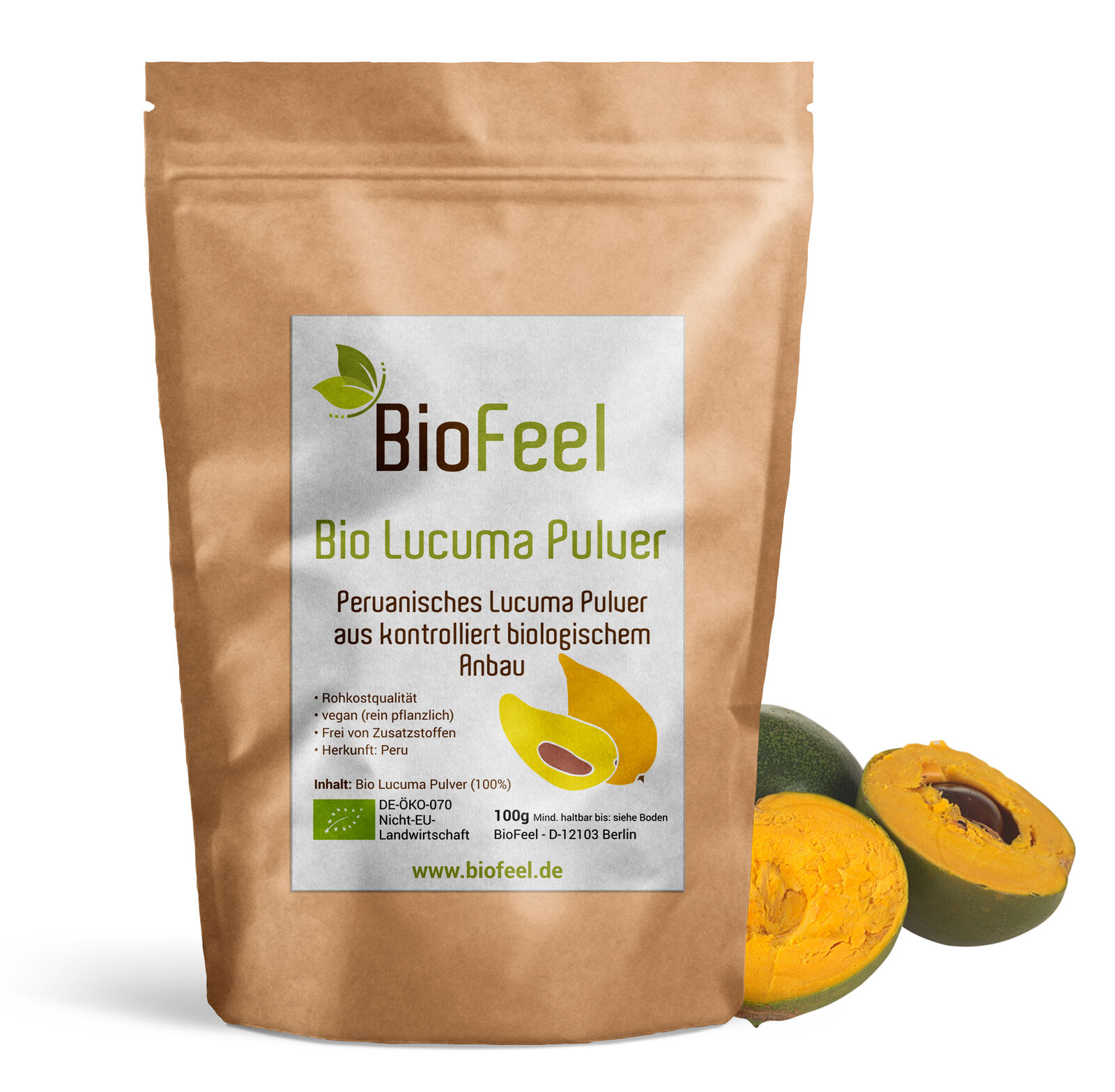 BioFeel - Bio Lucuma Pulver, 100g