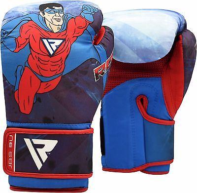 RDX Boxhandschuhe Kinder Leder Boxen Handschuhe kickboxen Training Boxing 6oz DE